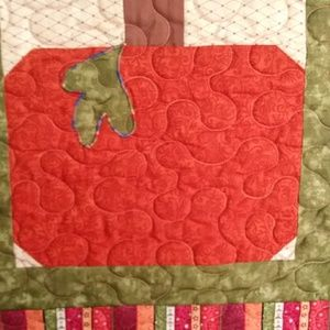 Holiday - Fall Pumpkin Wall Hanging Table Topper Quilted